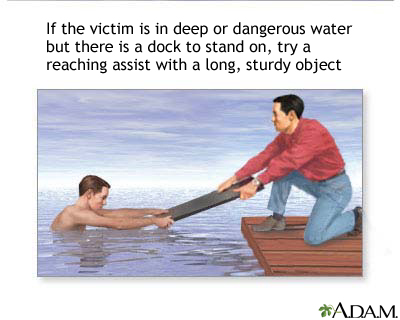 Drowning rescue, reaching assist