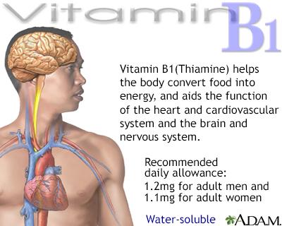 Vitamin B1 benefit