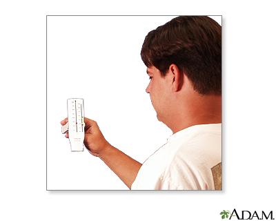 Peak flow meter use - part seven